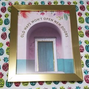 """Other - NWT gold framed inspirational wall art! 8""""x10"""""""